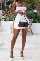 Women Pure Color Hollow Out Ruffle Mini Dress JHZ8053
