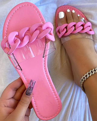 Hot Sales Fashionable Candy Colors Casual Flip-Flops  YKX1052