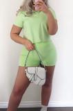 Euramerican Fashion Lapel Neck Stripe Two-Piece CYY008