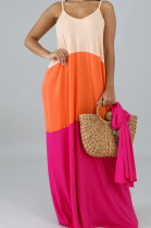 Fashion Casual Loose V Necl Have Pocket Sling Dress SMR10134