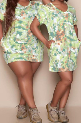 Euramerican Casual Print Loose Dress QQ5249