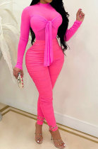 Pure Color Sexy Long Sleeve Bodycon Jumpsuits MA6691