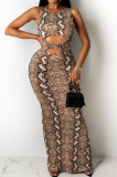 Euramerican Fashion Vest Casual Long Dress QZ4344