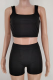 Euramerican Pure Color Vest Shorts Yoge Sports Sets X9307