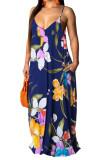 Fashion Summer Casaul Loose V Neck Sling Long Dress SMR10198