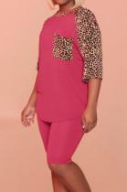 Euramerican Fashion Leopard Print Casual Sets QQ5245