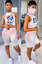Women Veil Jumpsuits Sport Shorts Sets LD8711