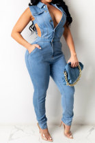 Fashion Women Cowboy Cultivate One's Morality Casual Jumpsuit JLX6087