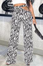 Personality Temperament Casual Chain Zebra Long Pants AYL4083