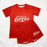 Fashion Casual Print Short Sleeve Shorts Sets  SDD9349