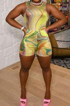 Women Printing Sleeveless Shorts Sets CY1335