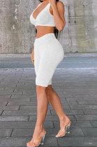 Pineapple Cloth Jacquard Weave Pure Color Yoga Vest Shorts Sets HR8176