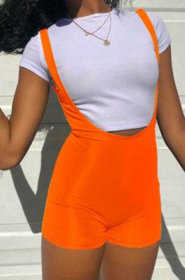 Casual Multi Suspender Pant Short Sleeve Shorts Sets FM6212