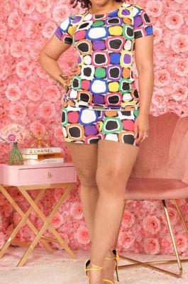 Fashion Casual Geometric Graphic Printing Shorts Sets ZYL2003