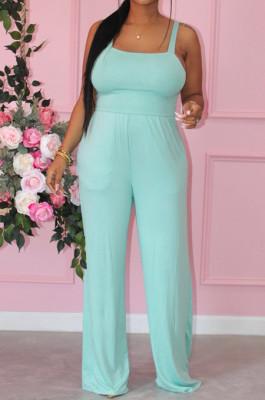 Fashion Summer Pure Color Vest Shift Jumpsuits E8600
