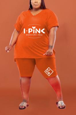 Women Plus Size Casual Pure Color Shorts Sets HHB4028