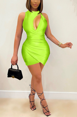 New Fashion Sexy Round Neck Sleeveless Dress BDF6003