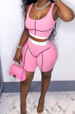 Fashion Casual Screw Thread Women Shorts Sets GLS7023