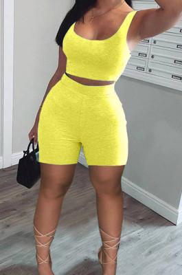 Vest Shorts Casual Sports Sets Fashion Two-Piece LMM8253