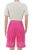 Pink Positioning Printing Casual Sport Two-pieces SMY8078