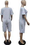 Euramerican Big Yards Loose Pure Color Casual Jumpsuits WT9138