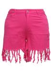 Fashion Big yards Tassel Package Buttocks Shift Cowboy Shorts SMR2372