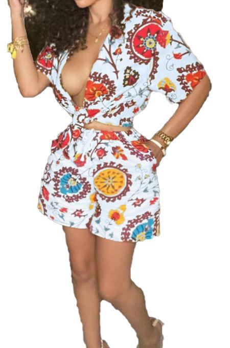 Casual Printing Pocket Shorts Sets BLE2310