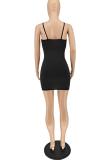 Fashion Women Sexy Pure color Halter Dress NL6068
