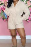 Fashion Casual Long Sleeve Waist Bind Jumpsuits LS6445