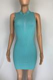 Casual Sexy Zipper Tight Mini Dress CL6098