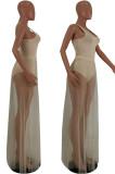 Euramerican Sexy Net Yarn Vest Bikini Skirts Sets HY5051