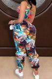 Printing Vest Long Pants Sets QQM4284