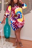 Women Long Sleeves Double Side Pocket Plus Size Dress TC085