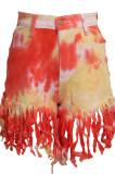 Fashion Sexy Tassel Colorful Tie Dye Cowboy SMR2358