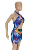 Summer Colorful Backless Hanging Neck Jumpsuits ANK6018