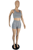 Summer Casual Pure Color Vest Sport Shorts Sets TC082