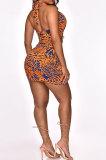 Euramerican Women Fashion Casual Chest Wrap Mini Dress ATE65001