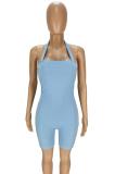 Summer Sexy Pure Halter Color Bodycon Jumpsuits ANK6019