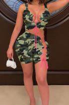 Fashion Casual Camouflage Binb Two-Piece YMM9070