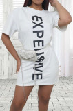 Summer Personnality Letter Printing Fashion Dress JG050