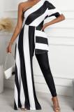 Fashion Irregularity Long Dress Shorts Inclined Shoulder Culottes Jumpsuit QSS51016