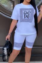 Fshion Casual Print Short Sleeve Shorts Sets T210
