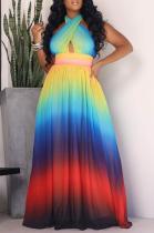 Rainbow Wrapped Maxi Dress
