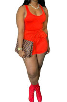 Red Sexy Vest Shorts Stakerope Casual Shorts Sets SFM0274-4