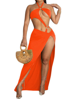 Sexy Swimwear Pure Color Two Pieces Swimsuits CN0103