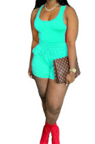 Sky Blue Sexy Vest Shorts Stakerope Casual Shorts Sets SFM0274-8