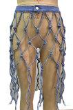 High Waist Hollow Out Jeans Skirts CA7045