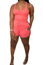 Pink Sexy Vest Shorts Stakerope Casual Shorts Sets SFM0274-2