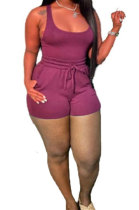 Purple Sexy Vest Shorts Stakerope Casual Shorts Sets SFM0274-5