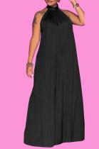 Black Fashion Sleeveless Backless Casual Wide Leg Jumpsuits MMS8044-3